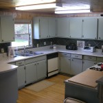 Full kitchen in the cabin.